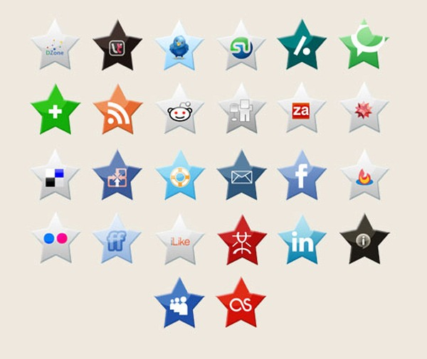 star-media-icon-set
