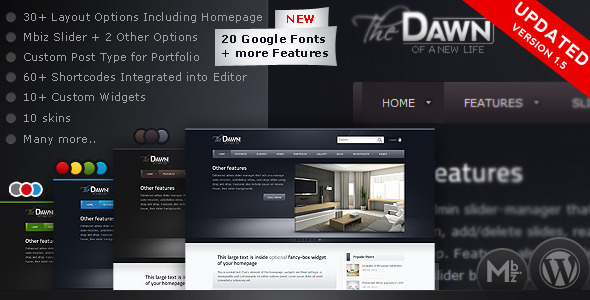 theDawn Premium All-in-one WordPress Theme