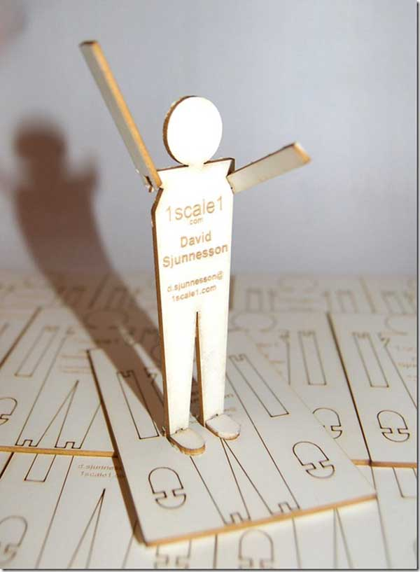 1 Scale 1 Wooden Business Cards