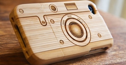 Wood Crafted Camera Cover