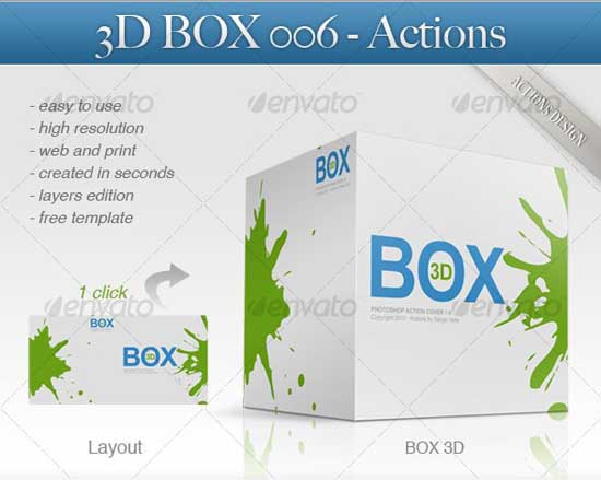 20 Best 3D Photoshop Actions Add-ons