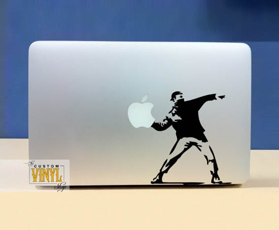 Banksy Street Art MacBook Stickers