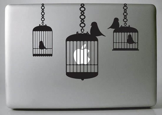 Bird Cages MacBook Decal Sticker