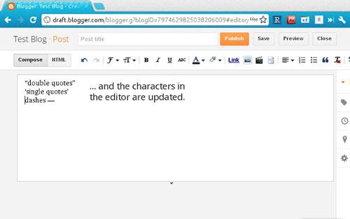 Blogger Smart Punctuations
