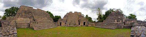 Caracol Maya Ruins Panorama Belize by Allan Baxter