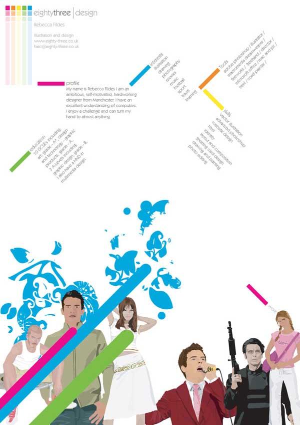 Creative CV by Eighty Three
