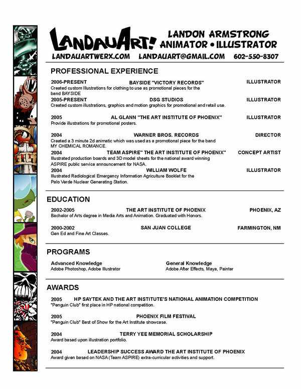 Current Resume by Landauart