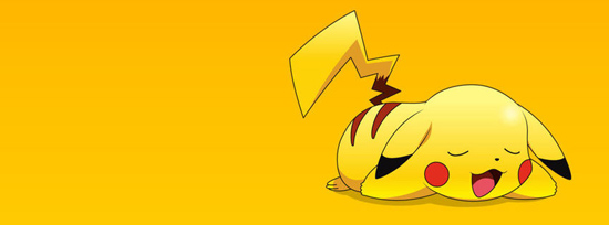 Cute Sleepy Pokemon Pikachu