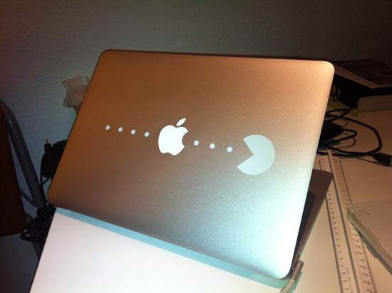 DIY PacMan MacBook Sticker