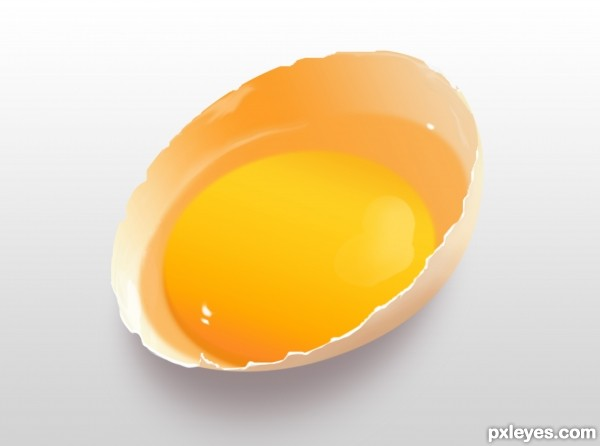 Drawing a Realistic Fresh Egg