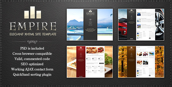 EMPIRE - Elegant XHTML Template