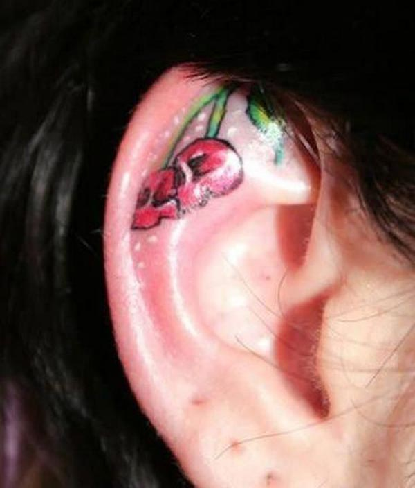 Cherries on the ear