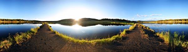 Echo Canyon Lake Panorama by Knold