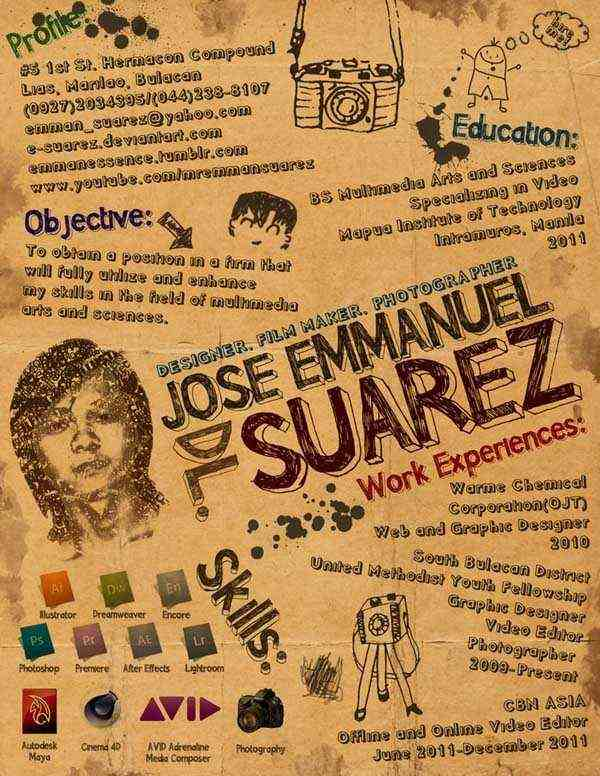 Emman's Creative Resume by E-Suarez