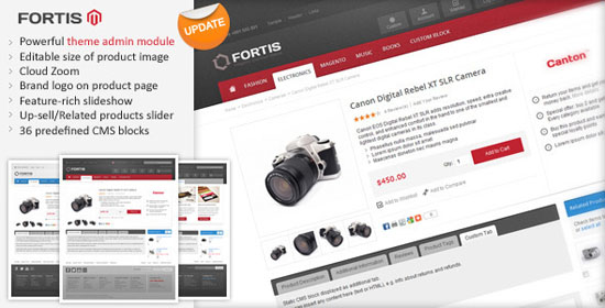 Fortis - flexible Magento Theme