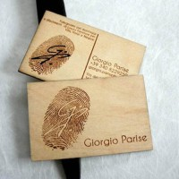 Giorgio Parise Wood Business Card