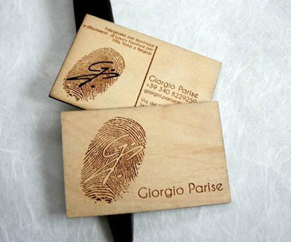 Giorgio Parise Wood Business Card