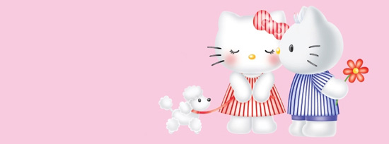Girly Hello Kitty 50 Adet Facebook Kapak Resmi