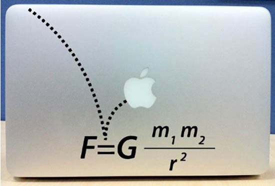 Gravity MacBook Decal Sticker