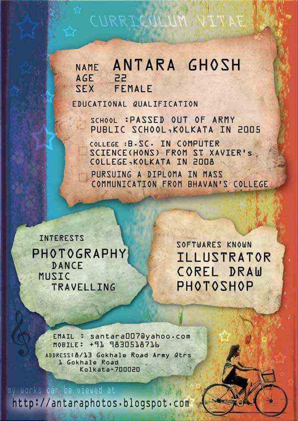 I Made a Creative CV by Moonydancer Antaraa