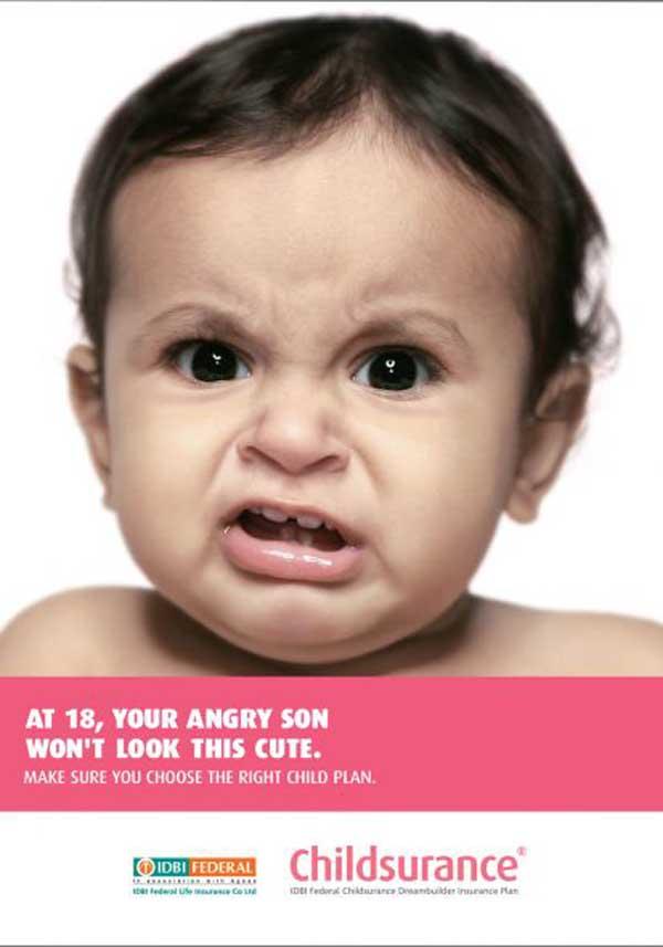 IDBI Federal Childsurance - Angry baby, 2