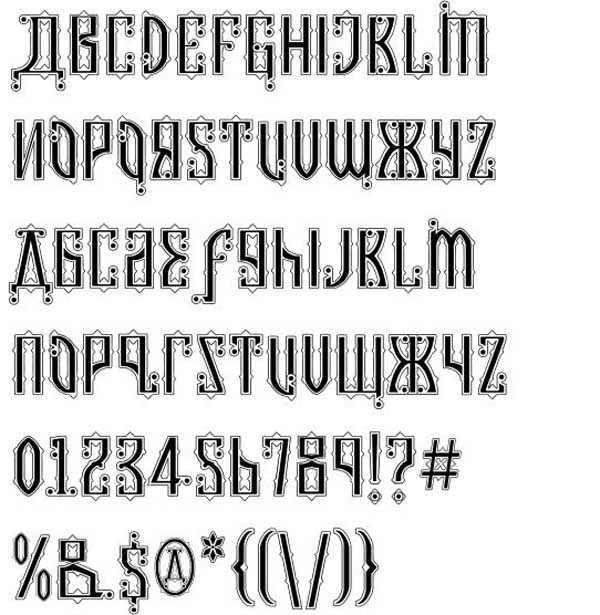 Kremlin Czar Font by Bolt Cutter Design