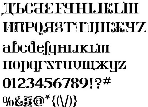 Kremlin Imperial Font by Bolt Cutter Design