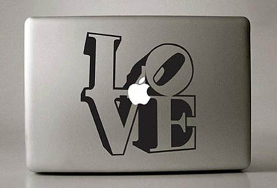 LOVE MacBook Decal Sticker