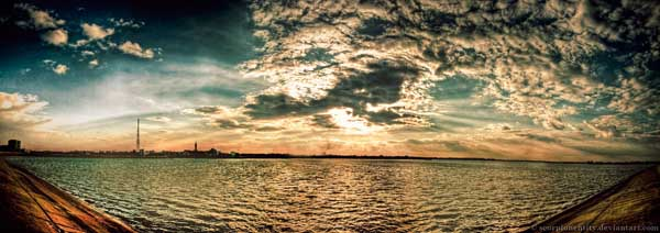 Lake at sunset - Panoramic HDR by Scorpion Entity