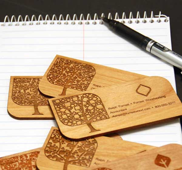 Laser Engravement Wooden Card
