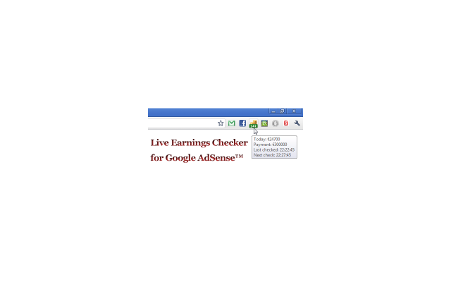 Live Earnings Checker for Google AdSense