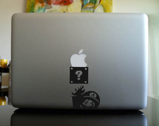 Mario MacBook Decal Sticker