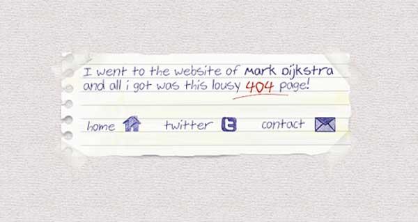 Mark Dijkstra 404