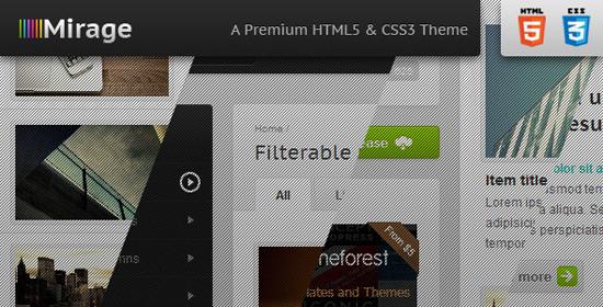 Mirage - Premium HTML & CSS Theme