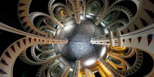 Mirror Maze, 360° Stereographic Panorama by Dynamite360