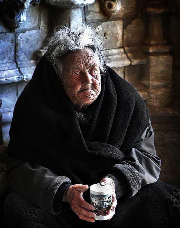 Old Beggar by Maciej Ciezki