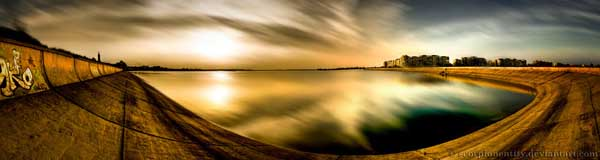 Panoramic Sunset Exposed by Scorpion Entity