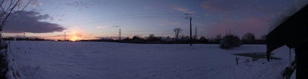 Panoramic image - Snow Field by Tothe world