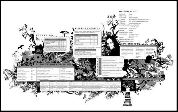Poster CV by Hippiedesigner