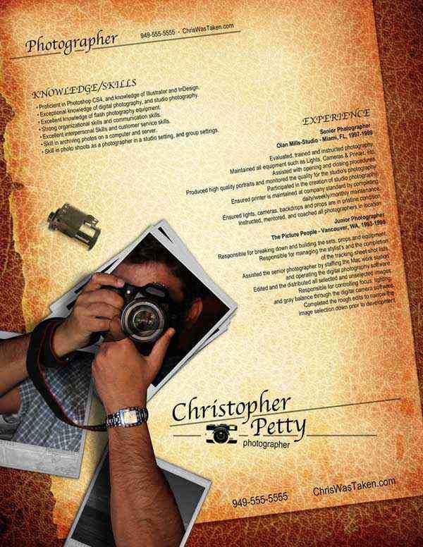 Resume Photographer by Rkaponm