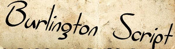 SF Burlington Script by ShyFonts