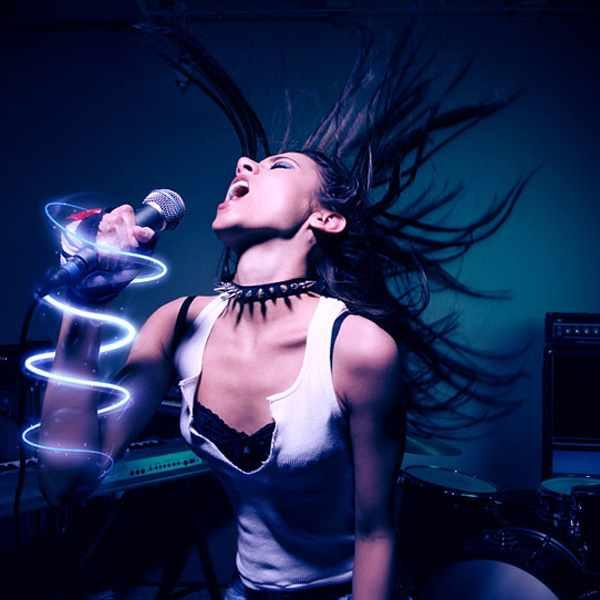 Stimulating Energy Beams On Photoshop