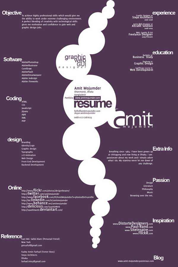 Typographic Resume Version2 by SparkleWeb