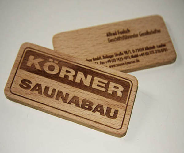 Wood Korner Saunabau Business Card