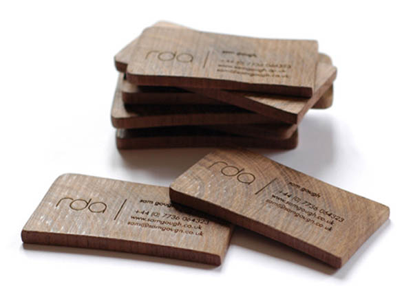 Wooden Business Card by Sam Gough