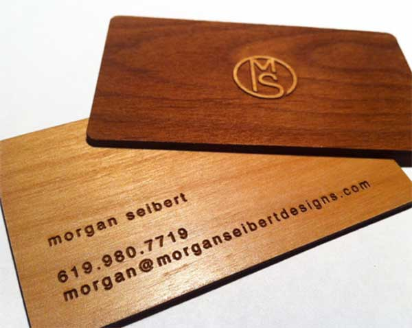 MS Wooden Business Card