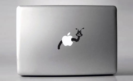 Wormy Macbook Sticker
