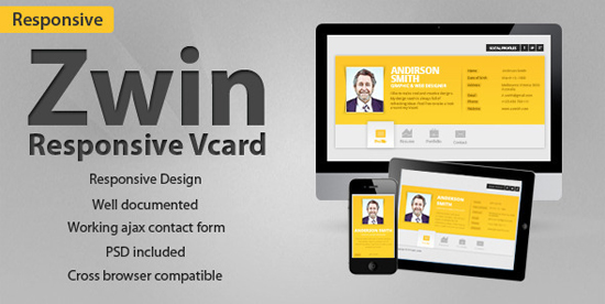 Zwin - Responsive Vcard Template
