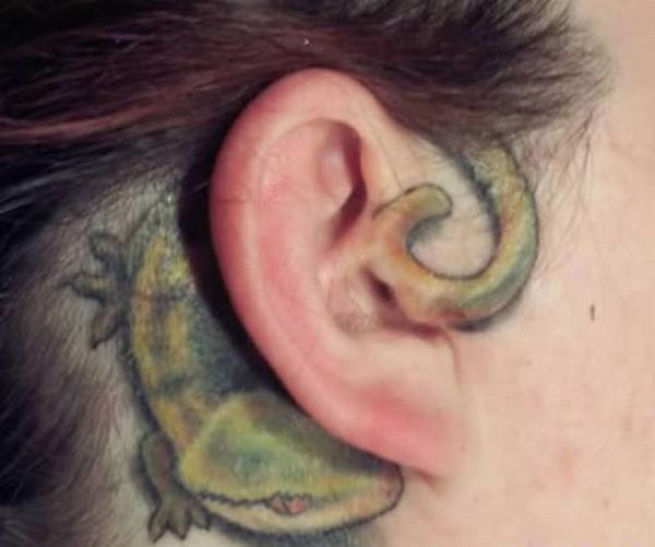 Lizard On the Ear