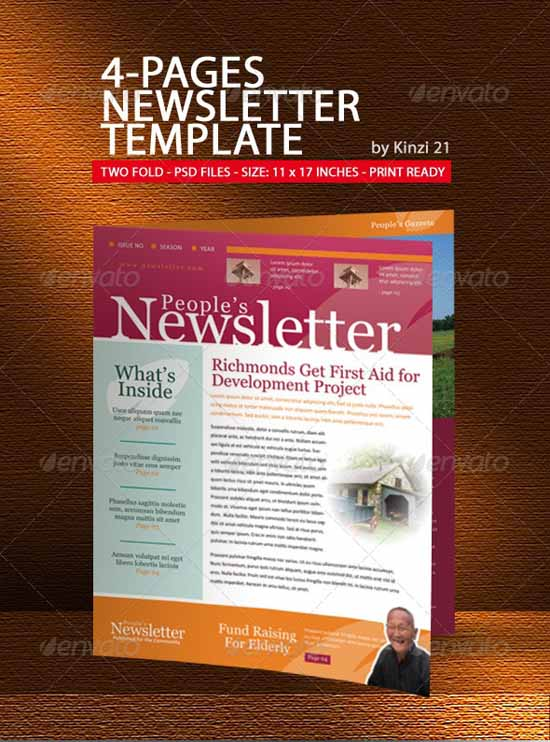 Effective And Creative Email Newsletter Designs - Creative newsletter design templates